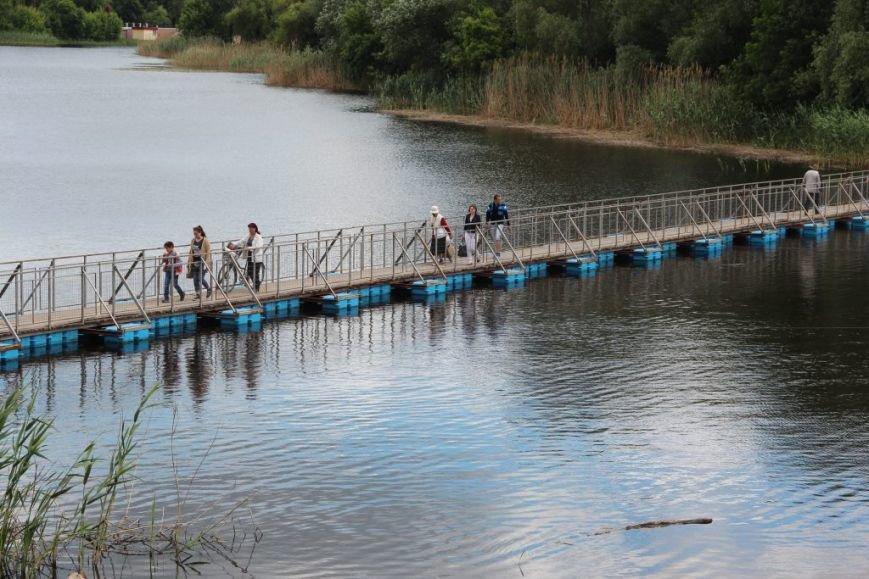 Тимчасовий міст через річку Хорол
