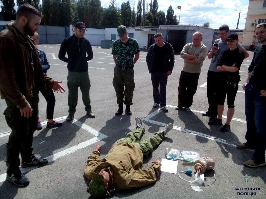 Кременчугские патрульные полицейские учатся оказывать первую медицинскую помощь (ФОТО), фото-6