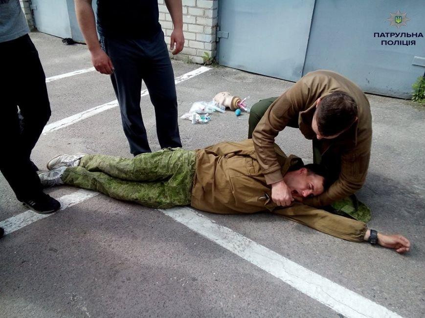 Кременчугские патрульные полицейские учатся оказывать первую медицинскую помощь (ФОТО), фото-3