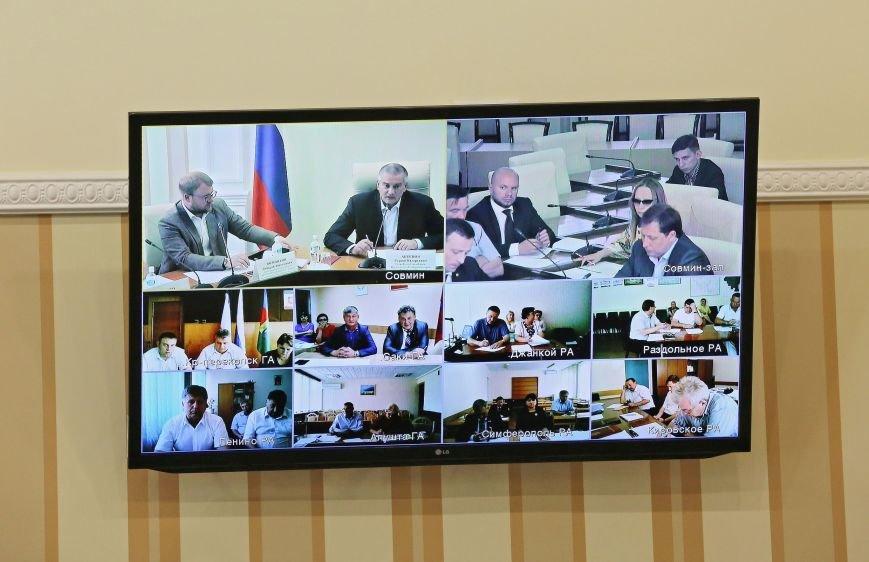 Аксёнов провёл видеоселектор с главами регионов Крыма (ФОТО), фото-3