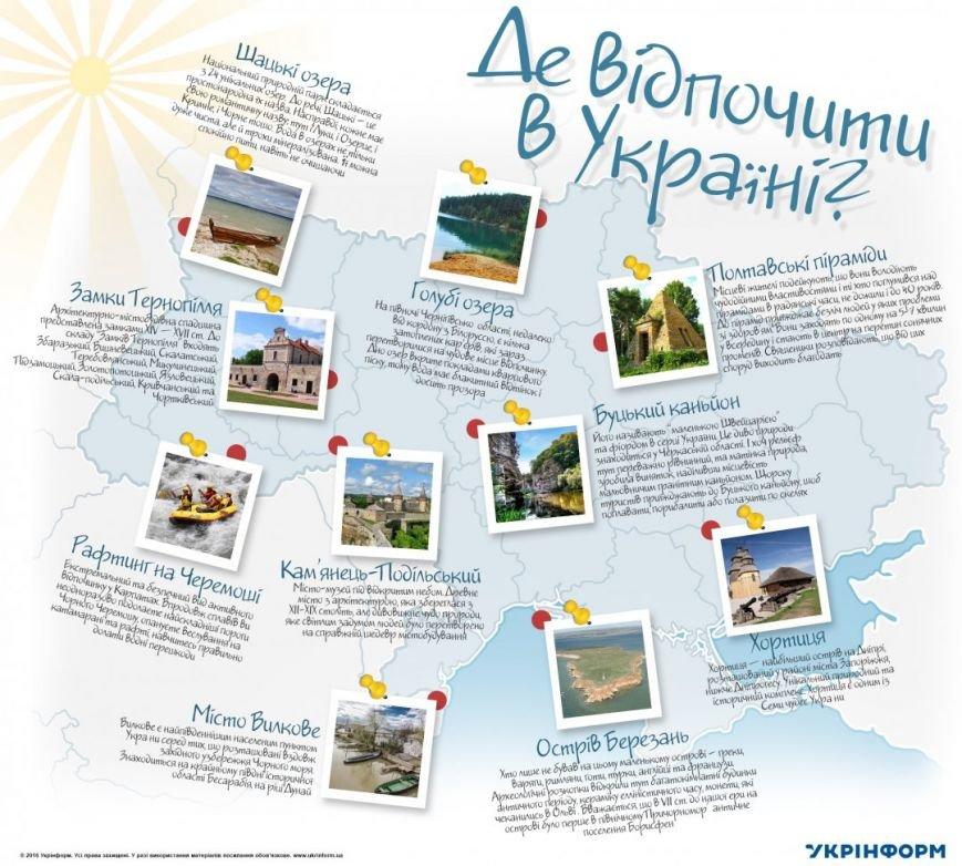 Где отдохнуть в Украине (ИНФОГРАФИКА), фото-1