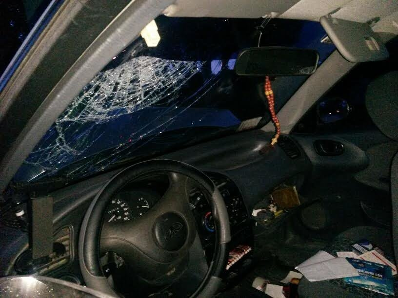 В Мариуполе  Daewoo на Приморском бульваре врезался в столб (ФОТО+ВИДЕО), фото-1