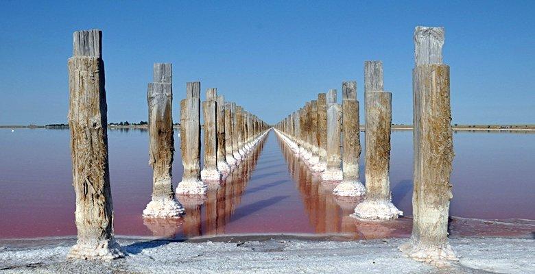 В Херсонской области есть розовое озеро с целебной водой (фото), фото-1