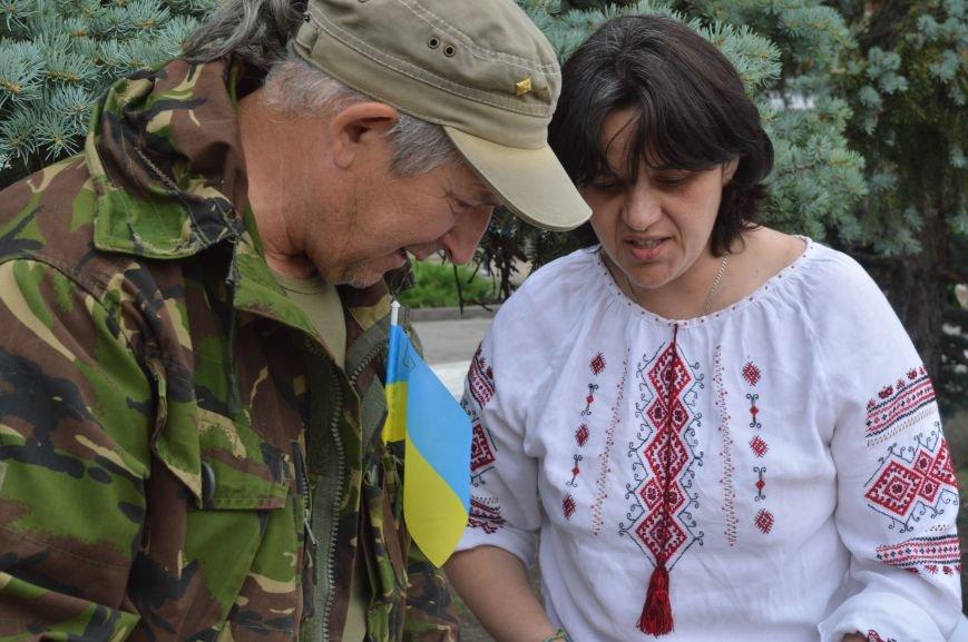 В Северодонецке прошла патриотическая акция, посвященная Дню Конституции Украины, фото-6