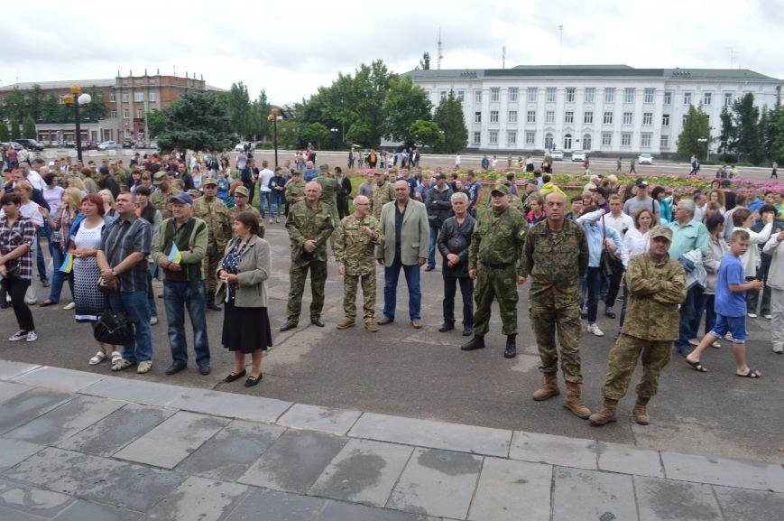 В Северодонецке прошла патриотическая акция, посвященная Дню Конституции Украины, фото-2