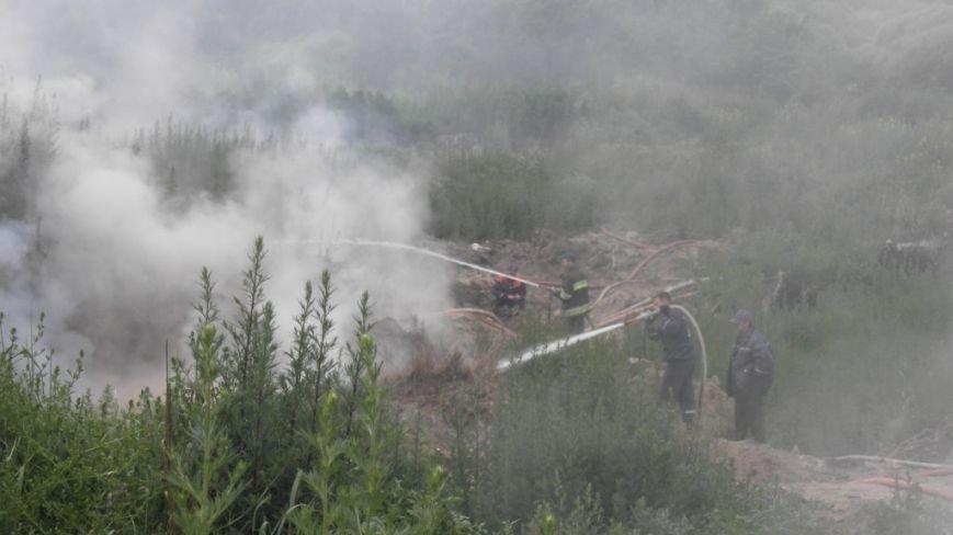На Львівщині пожежею охопило ще одне сміттєзвалище: фото, фото-1