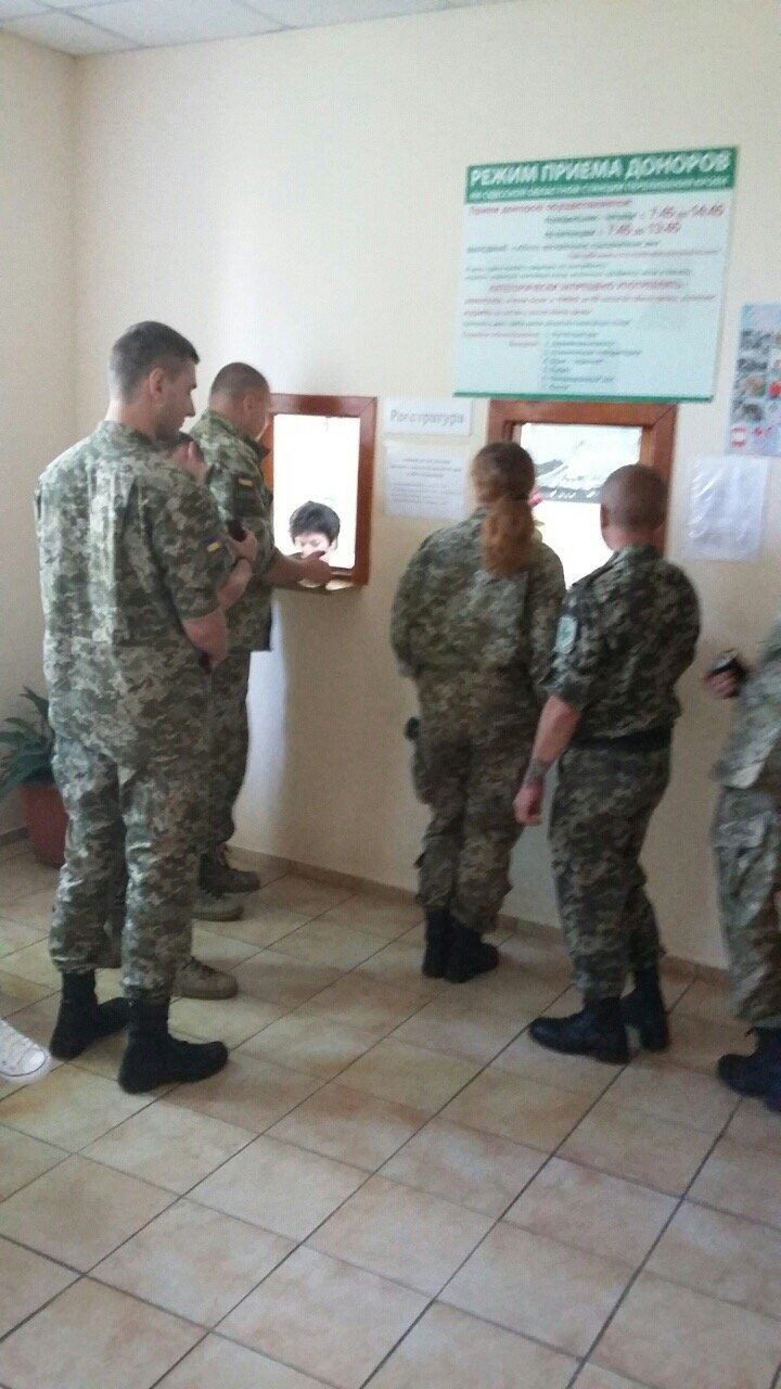 Пограничники Одесского отряда сдали кровь  для раненых в зоне АТО (+фото), фото-1