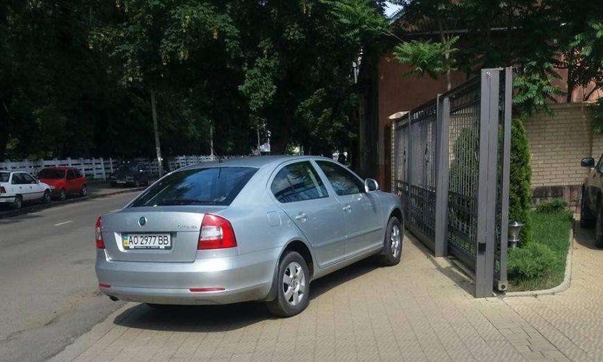 """""""Олень"""" дня: ужгородський водій припаркувався, повністю заблокувавши пішохідну зону: фото, фото-1"""