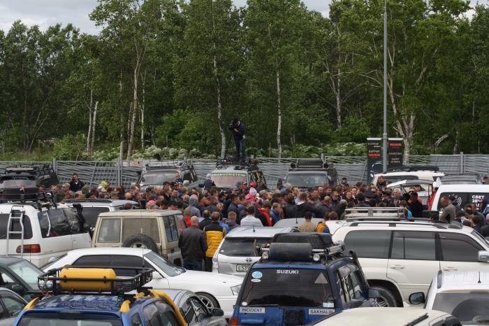 Сахалинские джипперы протестовали против очередных поборов, фото-1