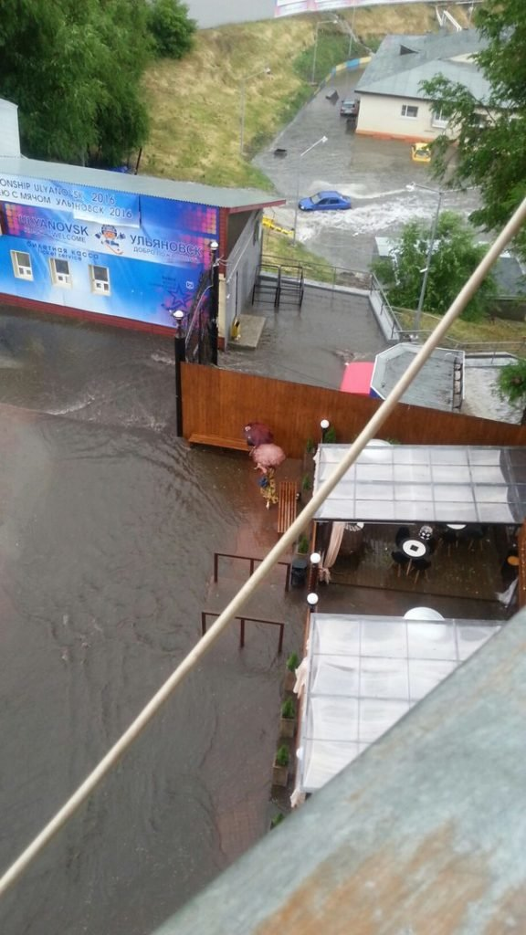 Ульяновский стадион «Труд» ушел под воду, фото-1