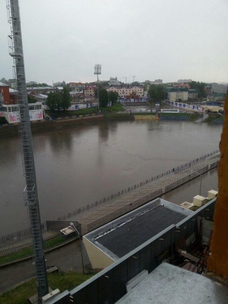 Ульяновский стадион «Труд» ушел под воду, фото-2