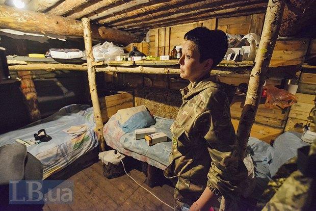 Медсестра из Доброполья уже второй месяц живет в блиндаже, фото-6