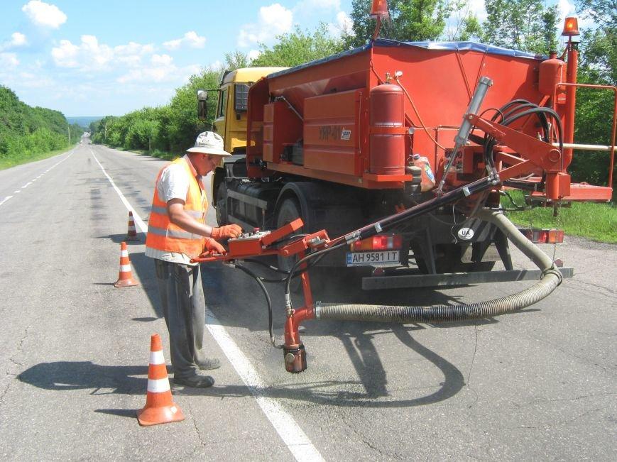 Ямковий ремонт на автодорозі М-03