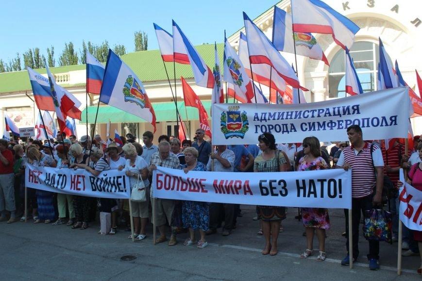 Власти Симферополя поучаствовали в антинатовском митинге в Феодосии (ФОТО), фото-2