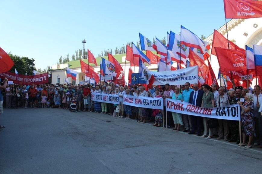Власти Симферополя поучаствовали в антинатовском митинге в Феодосии (ФОТО), фото-1