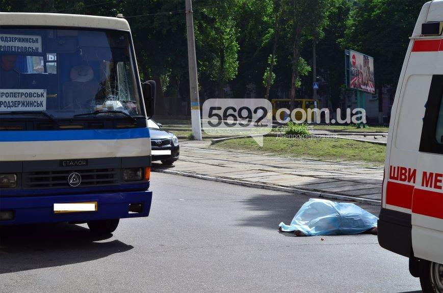 В Каменском на проспекте Свободы в ДТП маршрутка насмерть сбила женщину на пешеходном переходе, фото-2