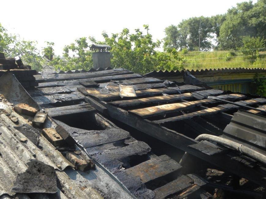 Черниговские пожарные вытащили 90-летнюю пенсионерку из горящего дома, фото-5
