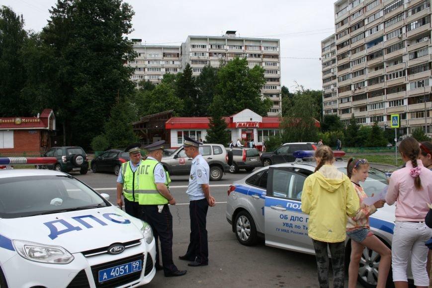 """В Троицке прошёл полицейский рейд """"Маленький пешеход"""", фото-10"""
