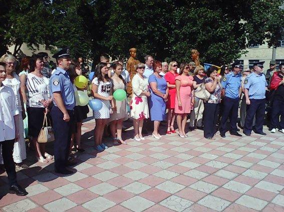 На Дне Конституции Украины в Дружковке засветился российский флаг, фото-1