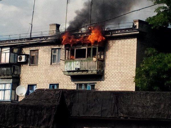 В Каменском на Васильевской горел балкон, фото-1