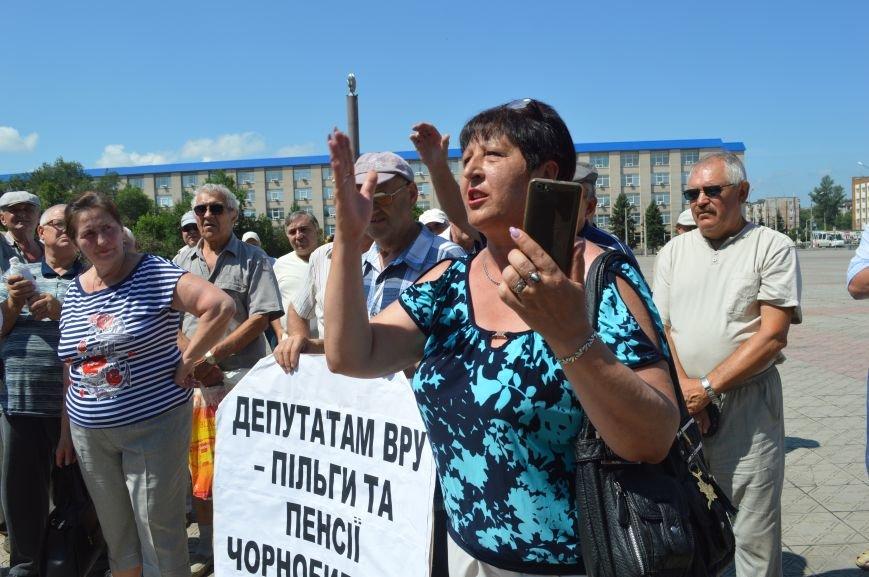 В Северодонецке чернобыльцы требовали соблюдения своих прав (ФОТО), фото-7