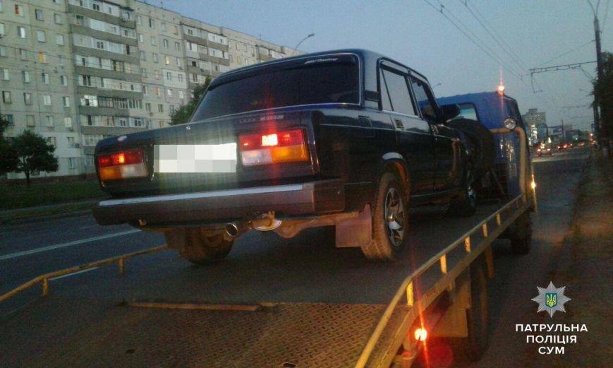 В Сумах на Лушпы остановили пьяного водителя (ФОТО), фото-1