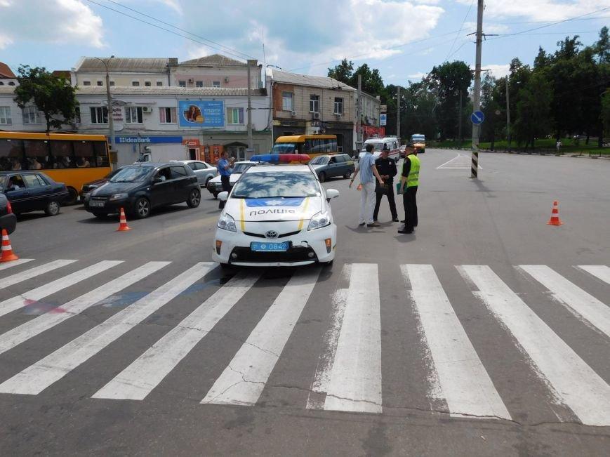 В Сумах ДТП с участием новой полиции (ФОТО), фото-1
