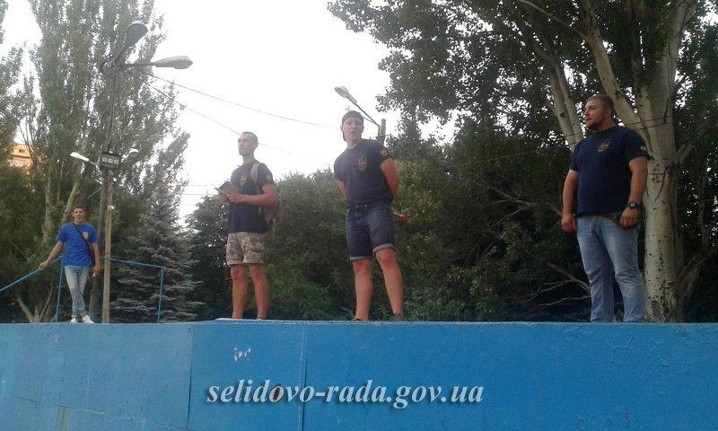 Мешканці Селидового ходили із факелами по місту, фото-6