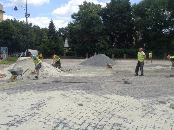 Як у Львові триває реконструкція території поблизу державного цирку (ФОТО), фото-6