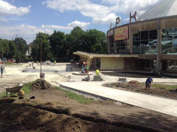 Як у Львові триває реконструкція території поблизу державного цирку (ФОТО), фото-4
