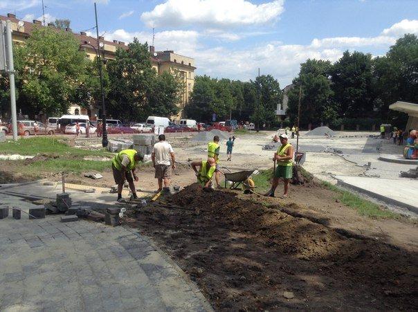 Як у Львові триває реконструкція території поблизу державного цирку (ФОТО), фото-2
