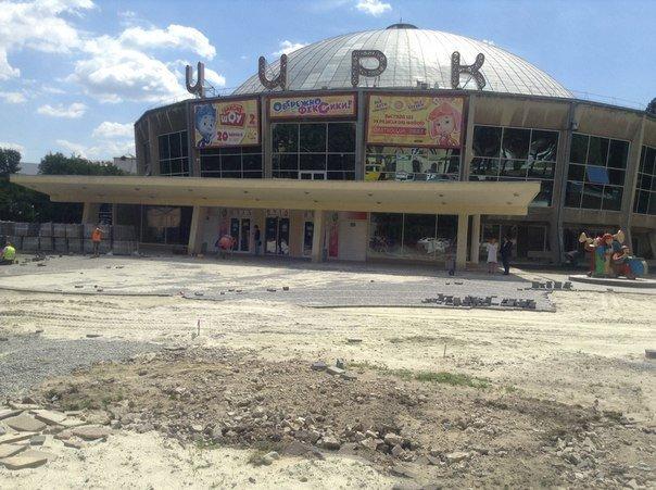 Як у Львові триває реконструкція території поблизу державного цирку (ФОТО), фото-3