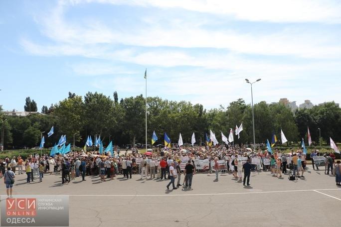 Одесские профсоюзы, «Батькивщина» и «куликовцы» вместе выступили против «тарифного геноцида» (фото), фото-1