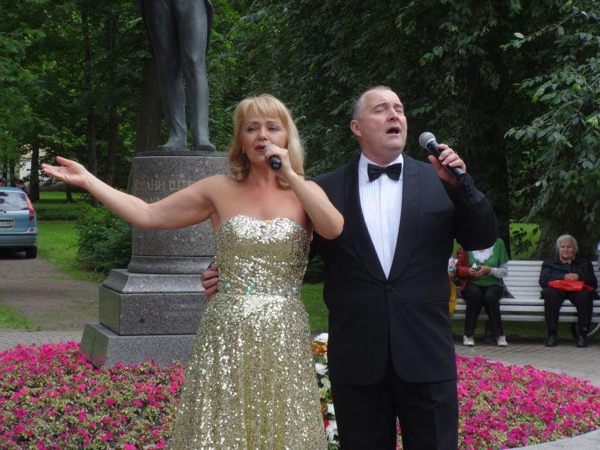 В Павловске состоялась церемония подношения цветов памятнику Штраусу, фото-4