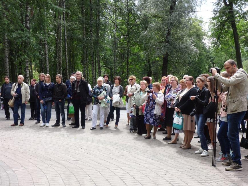 В Павловске состоялась церемония подношения цветов памятнику Штраусу, фото-3