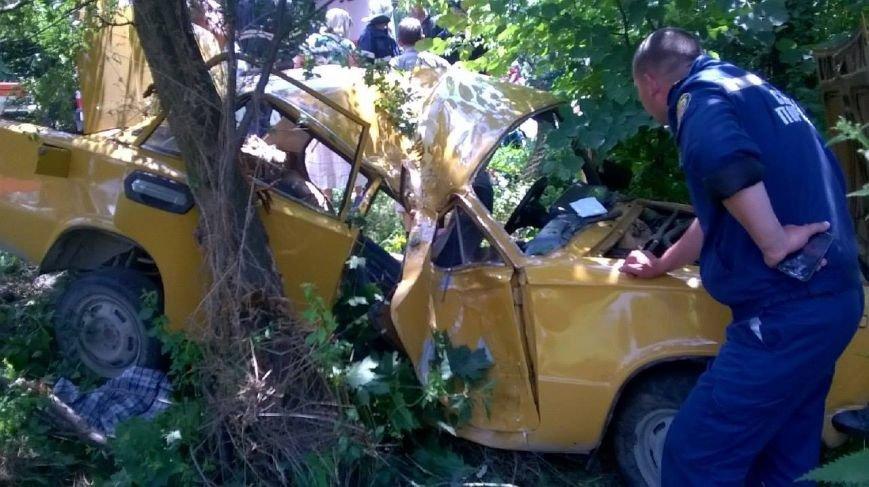 На трасі Київ-Чоп легковик з'їхав у к'ювет і врізався в дерево (ФОТО), фото-3