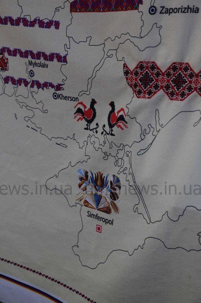 Запорожский край запечатлел свои символы на «вышитой Украине», фото-1