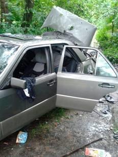 З'явилися фото з місця вибуху автомобіля на Львівщині (ФОТО), фото-1