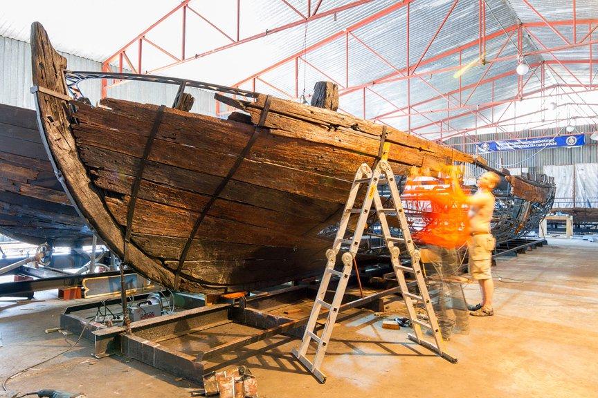 На Хортице реставраторы восстанавливают древние суда, - ФОТОРЕПОРТАЖ, фото-18