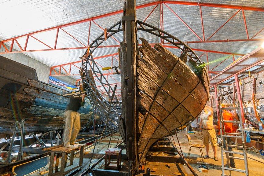 На Хортице реставраторы восстанавливают древние суда, - ФОТОРЕПОРТАЖ, фото-19