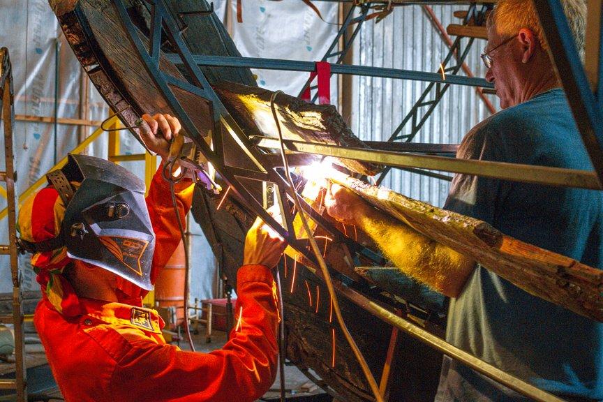 На Хортице реставраторы восстанавливают древние суда, - ФОТОРЕПОРТАЖ, фото-26