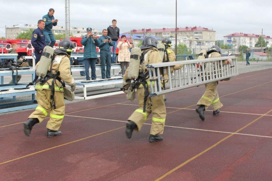 Прошло ежегодное соревнование на определение лучшей пожарной бригады Сахалина, фото-6