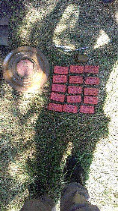 В Донецкой области возле трассы нашли тайник с противотанковой миной и тротилом (ФОТО), фото-1