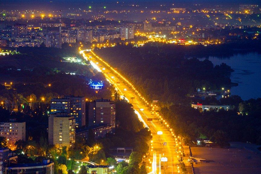 """""""Высокое Запорожье"""": как выглядит ночной город с высоты в 180 метров, - эксклюзивные фото, фото-10"""