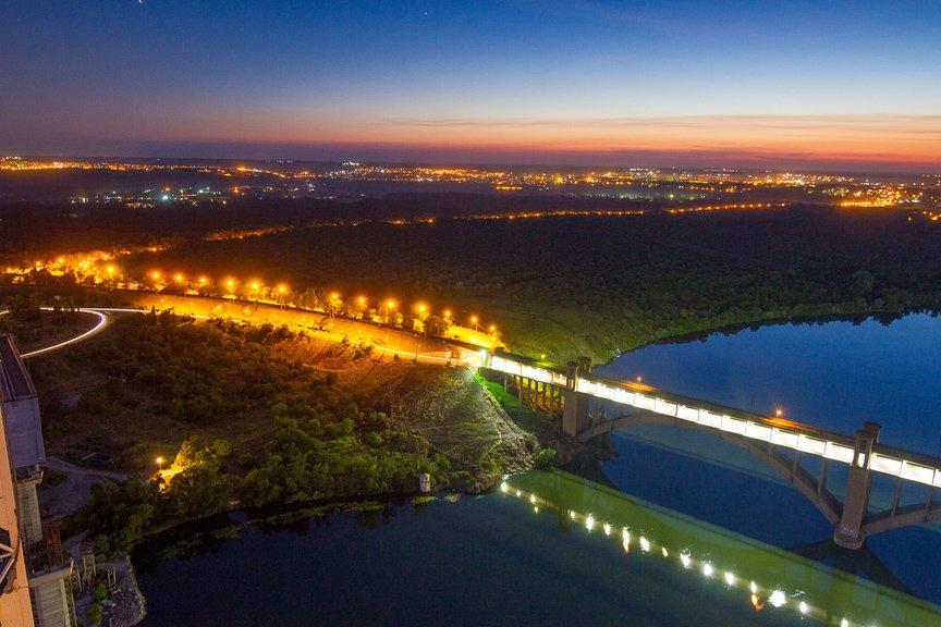 """""""Высокое Запорожье"""": как выглядит ночной город с высоты в 180 метров, - эксклюзивные фото, фото-9"""