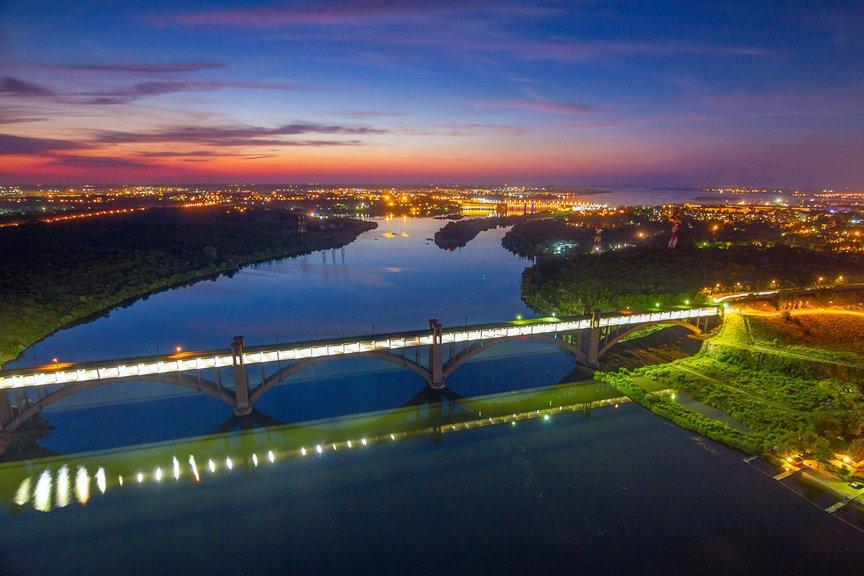 """""""Высокое Запорожье"""": как выглядит ночной город с высоты в 180 метров, - эксклюзивные фото, фото-1"""