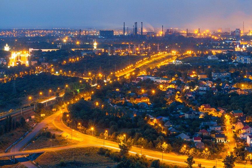 """""""Высокое Запорожье"""": как выглядит ночной город с высоты в 180 метров, - эксклюзивные фото, фото-2"""