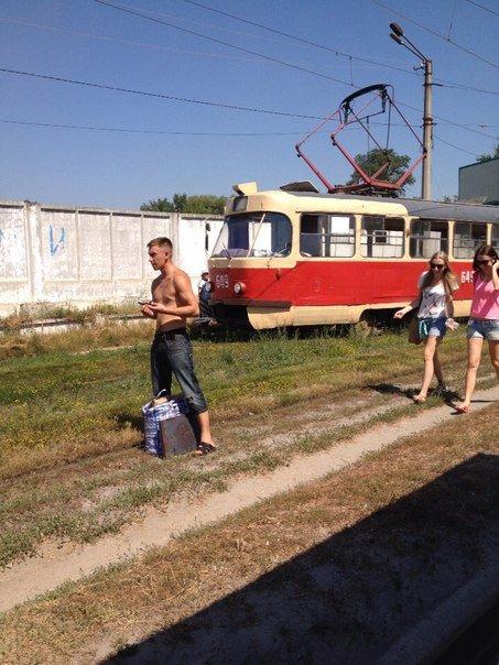 "На Шевченко ""дрифтовал"" трамвай (ФОТО), фото-1"
