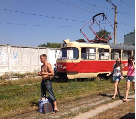 "На Шевченко ""дрифтовал"" трамвай (ФОТО), фото-2"
