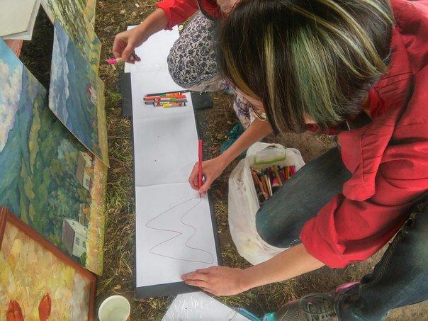 У Парку культури провели майстер-клас із живопису (ФОТО), фото-1